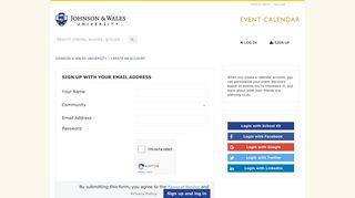 Sign Up - Johnson & Wales University
