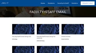 Faculty/Staff Email — JWU IT