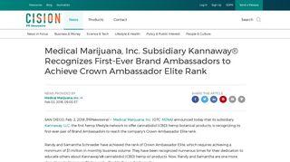 Medical Marijuana, Inc. Subsidiary Kannaway® Recognizes First-Ever ...