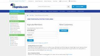 Send Digital Pictures to Sri Lanka - Kapruka.com