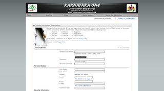Welcome to Karnataka One online Registration