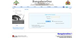 Login - Welcome to Bangalore One