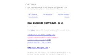 K2S Premium September 2018 – We Premium - Premium Accounts