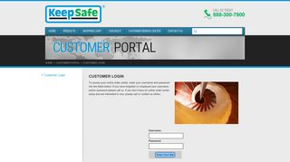 KeepSafe, Inc : Customer Portal : Customer Login