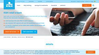K&H retail e-bank - K&H bank and insurance