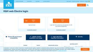 K&H web Electra login - K&H bank and insurance