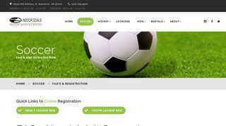 Soccer Registration - Indoor Goals