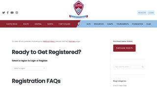 Register for Youth Soccer Today - Rapids Youth Soccer Club