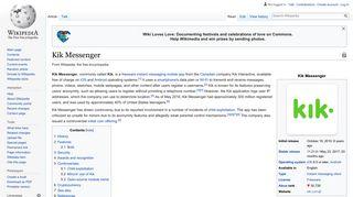 Kik Messenger - Wikipedia