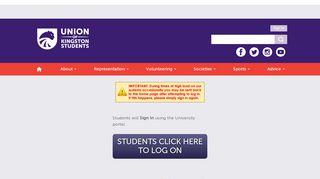 Login @ Union of Kingston Students