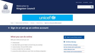 Sign in or set up an online account - Kingston Council