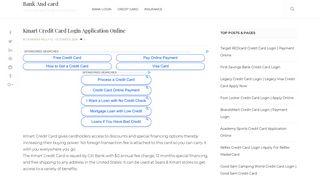 Kmart Credit Card Login Application Online - Kmart Store Card