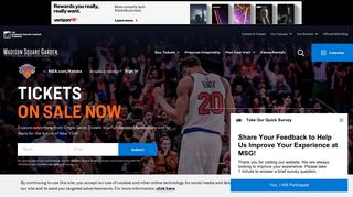 New York Knicks Tickets   MSG   Knicks Ticket Central - MSG.com