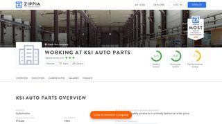 Working At KSI Auto Parts - Zippia