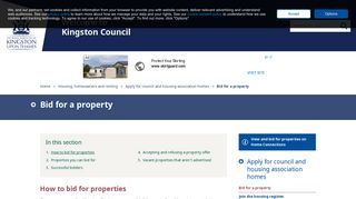 How to bid for properties   Bid for a property   The Royal Borough of ...
