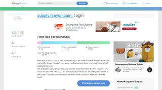 Access supply.lanyon.com. Login