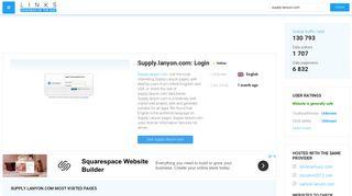 Visit Supply.lanyon.com - Login.