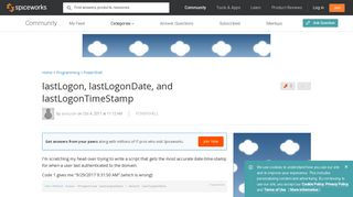 lastLogon, lastLogonDate, and lastLogonTimeStamp - PowerShell ...