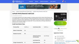 Latitude Infinity Rewards Credit Card reviewed by CreditCard.com.au