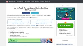 How to Apply for Landbank Online Banking (LBPIAccess) - Banking ...