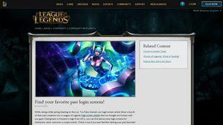 Find your favorite past login screens! | League of Legends