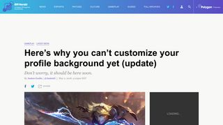 Here's why you can't customize your profile background yet (update ...