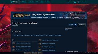 Category:Login screen videos | League of Legends Wiki | FANDOM ...