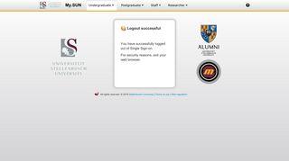 Single Sign-on | Stellenbosch University