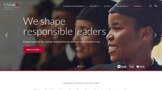 USB - University of Stellenbosch Business School | Home Page