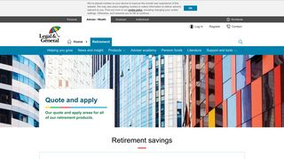 Quote and apply   Retirement   Adviser   Legal & General