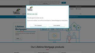 Lifetime Mortgages   Retirement   Adviser   Legal & General