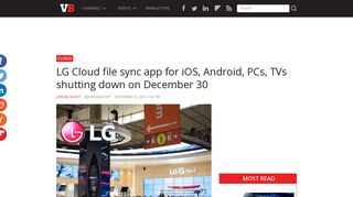 LG Cloud file sync app for iOS, Android, PCs, TVs shutting down on ...