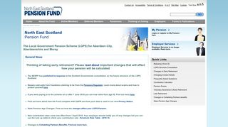 North East Scotland Pension Fund - Home