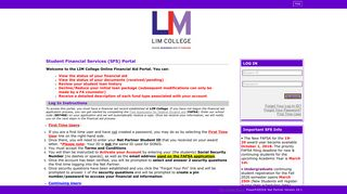 (LIM COLLEGE) Student Log In