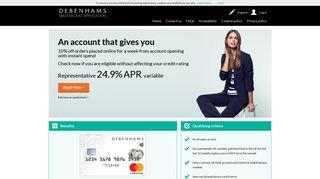 Home   Debenhams Credit Card