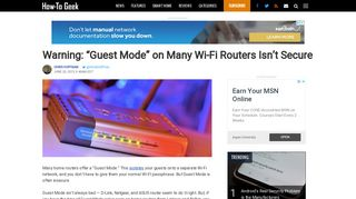 """Warning: """"Guest Mode"""" on Many Wi-Fi Routers Isn't Secure"""