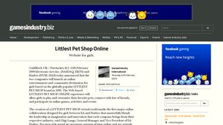 Littlest Pet Shop Online | GamesIndustry.biz