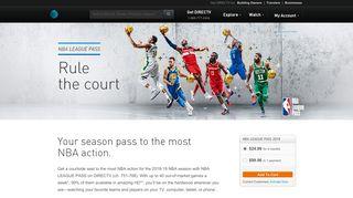 NBA LEAGUE PASS | Watch NBA Games | DIRECTV Official Site
