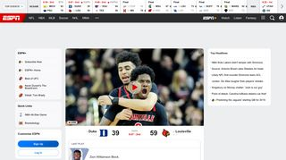 WatchESPN: Live Sports, Game Replays, Video Highlights - ESPN.com