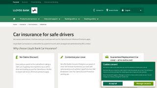 Lloyds Bank – UK Insurance – Safe Driver Car Insurance