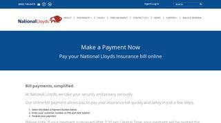 National Lloyds Insurance Bill Pay - Make a Payment
