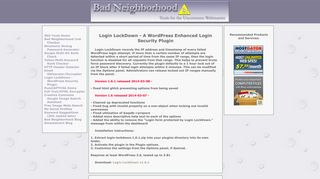 Bad Neighborhood - Login LockDown WordPress Security Plugin
