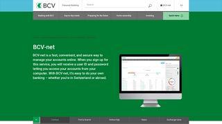BCV-net   BCV - Banque Cantonale Vaudoise