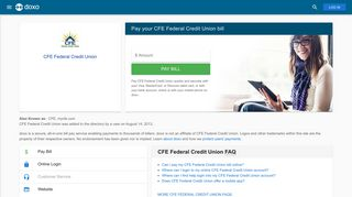 CFE Federal Credit Union (CFE): Login, Bill Pay, Customer Service ...