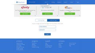 webmail login - Bluehost