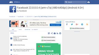 Facebook 22.0.0.0.4 (arm-v7a) (480-640dpi) (Android 4.0 ... - APKMirror