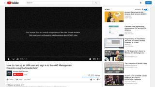 How do I set up an IAM user and sign in to the AWS Management ...