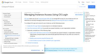 Managing Instance Access Using OS Login   Compute Engine ...