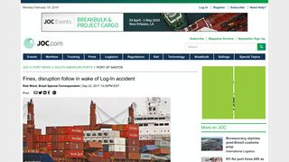Fines, disruption follow in wake of Log-In accident   JOC.com
