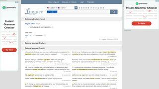 login form - French translation – Linguee
